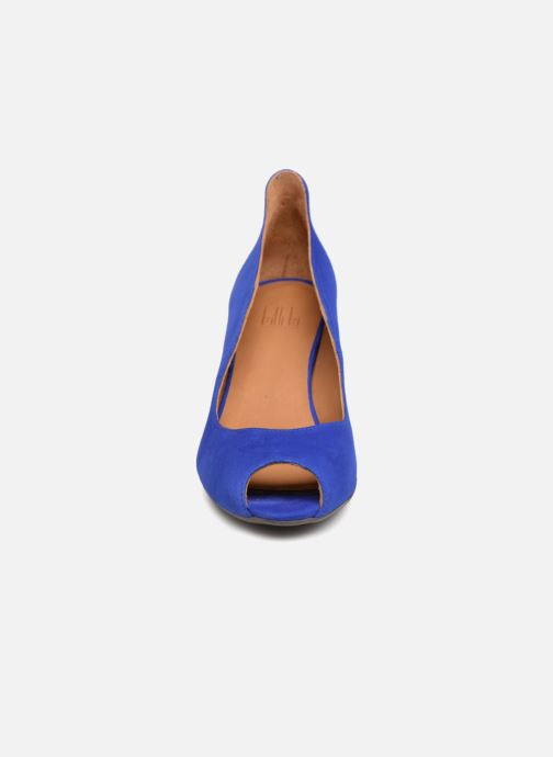 Escarpins Billi Bi EUMENES Bleu vue portées chaussures
