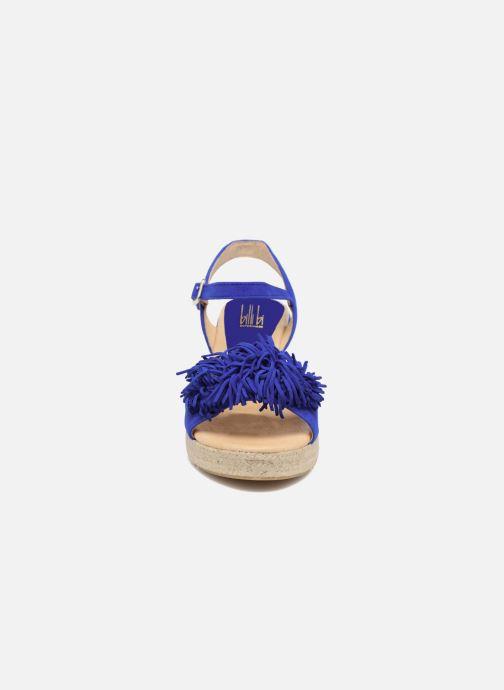 Alpargatas Billi Bi NYMPHES Azul vista del modelo