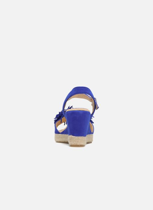 Alpargatas Billi Bi NYMPHES Azul vista lateral derecha