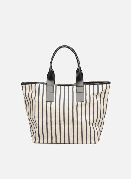 Sacs à main Karl Lagerfeld K Klassic Sparkle Shopper Rayures Blanc vue face