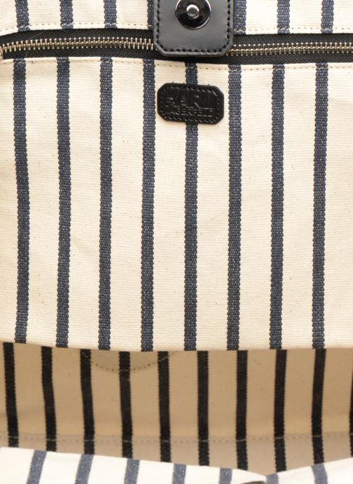 Sacs à main Karl Lagerfeld K Klassic Sparkle Shopper Rayures Blanc vue derrière