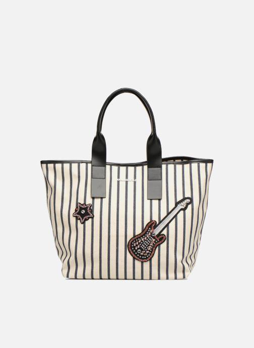 Bolsos de mano KARL LAGERFELD K Klassic Sparkle Shopper Rayures Blanco vista de detalle / par