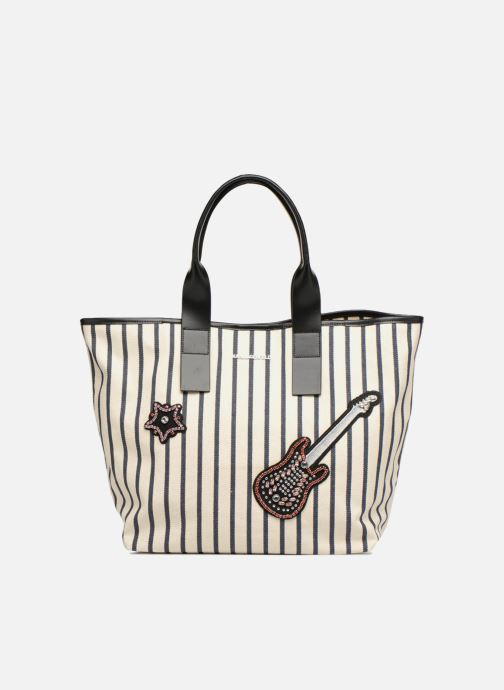 Borse Karl Lagerfeld K Klassic Sparkle Shopper Rayures Bianco vedi dettaglio/paio