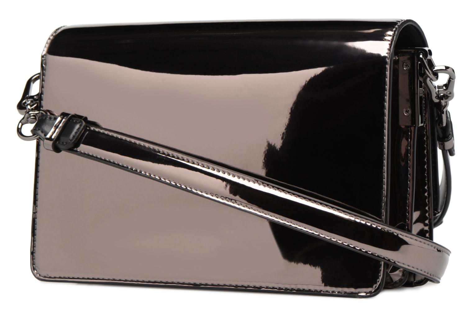 Gloss KARL K A975 LAGERFELD Signature Metallic Bag NICKEL Shoulder xtfFwq