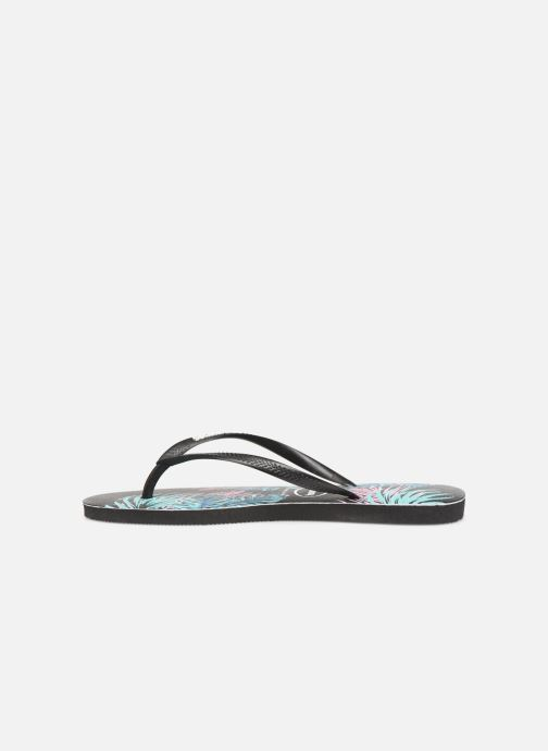 Tropical Floral Havaianas Daybreak Black Slim Tongs jLSzpqVMUG