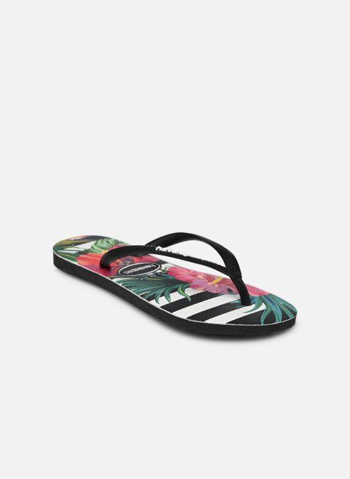 Tongs Havaianas Slim Tropical Floral Multicolore vue portées chaussures