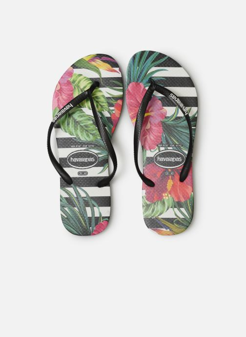 Infradito Havaianas Slim Tropical Floral Multicolore modello indossato