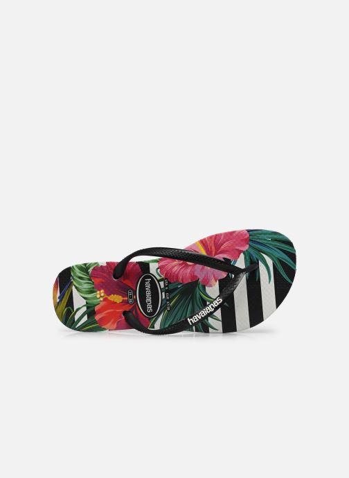 Chanclas Havaianas Slim Tropical Floral Multicolor vista lateral izquierda