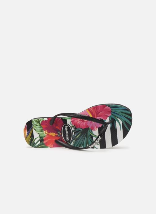 Tropical Black Floral Havaianas Imperial Slim Palace Tongs VUqMpSzG