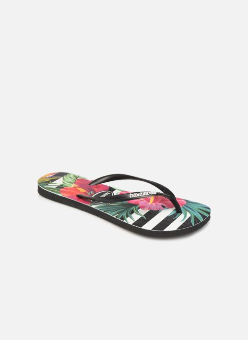 Tongs Havaianas Slim Tropical Floral Multicolore vue détail/paire