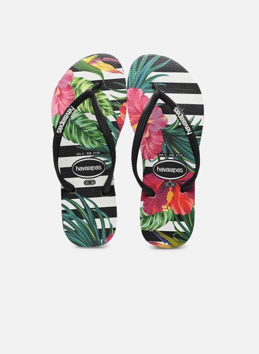 Chanclas Havaianas Slim Tropical Floral Multicolor vista de detalle / par