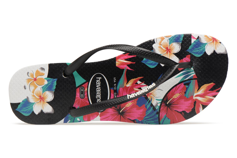 Tongs Havaianas Slim Tropical Floral Multicolore vue gauche