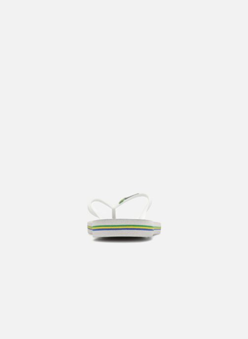 Flip flops Havaianas Slim Brasil Logo White view from the right
