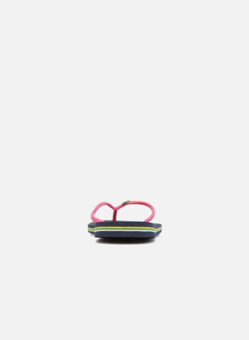 Flip flops Havaianas Slim Brasil Logo Blue view from the right