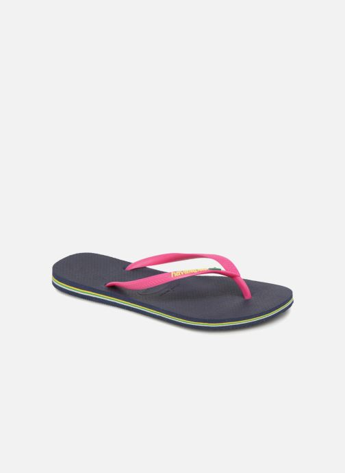 Slippers Havaianas Slim Brasil Logo Blauw detail