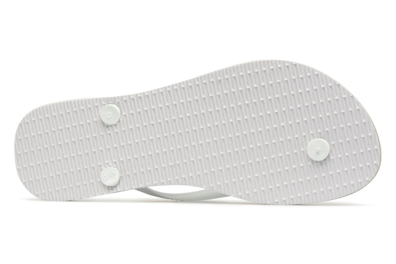 Tongs Havaianas Slim Brasil Logo Blanc vue haut