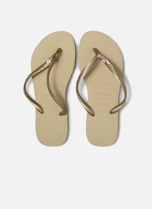Slippers Havaianas Slim Crystal Glamour SW Goud en brons model