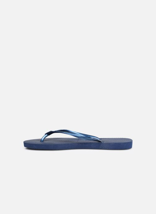 Tongs Havaianas Slim Crystal Glamour SW Bleu vue face
