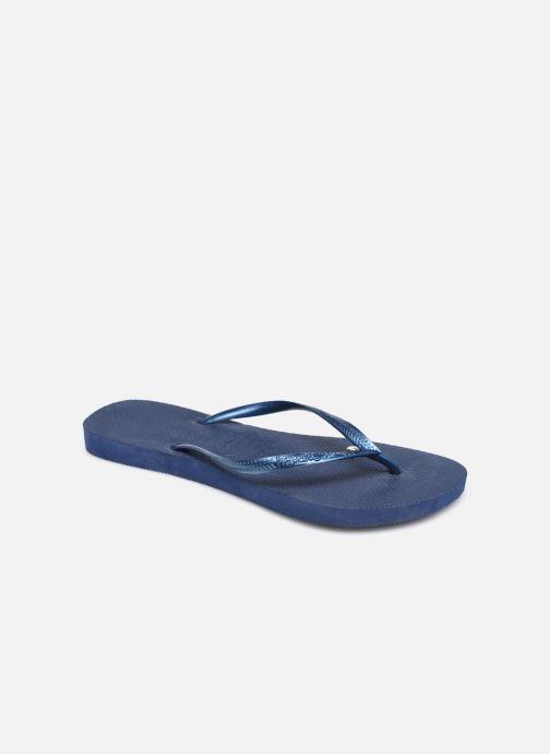 Tongs Havaianas Slim Crystal Glamour SW Bleu vue détail/paire