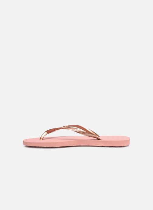 Tongs Havaianas Slim Crystal Glamour SW Rose vue face