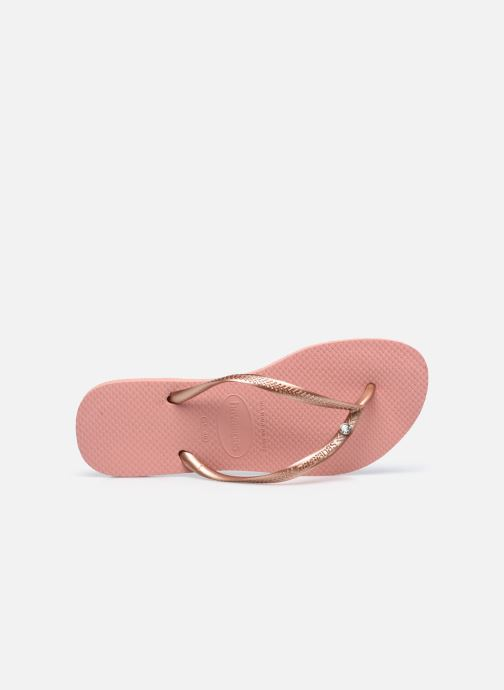Tongs Havaianas Slim Crystal Glamour SW Rose vue gauche
