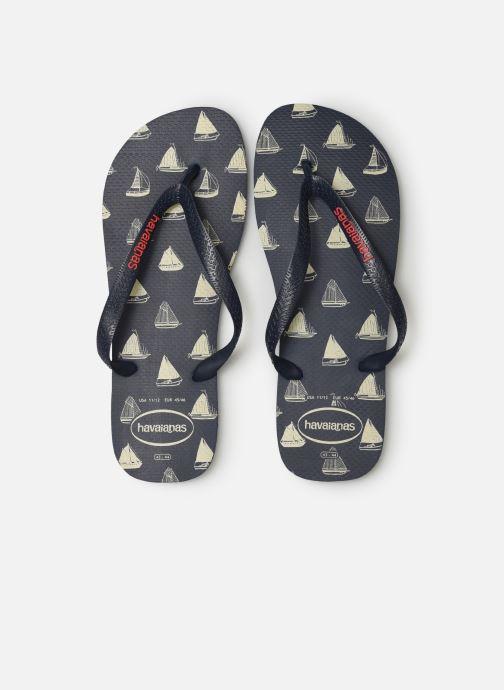 Tongs Havaianas Top Nautical Bleu vue portées chaussures