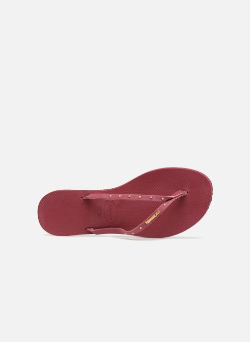 Flip flops Havaianas You Maxi Burgundy view from the left