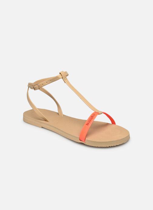 Sandali e scarpe aperte Havaianas You Belize Beige modello indossato