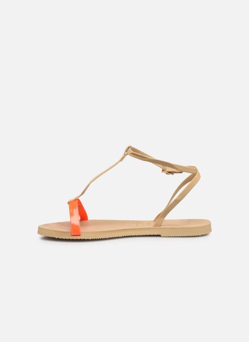 Sandali e scarpe aperte Havaianas You Belize Beige immagine frontale