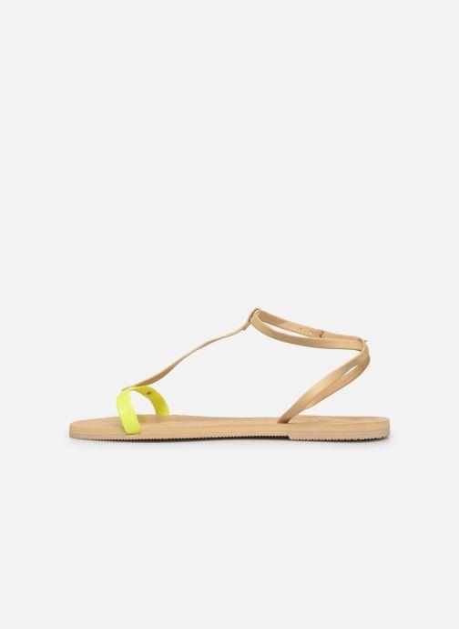 Sandalen Havaianas You Belize gelb ansicht von vorne