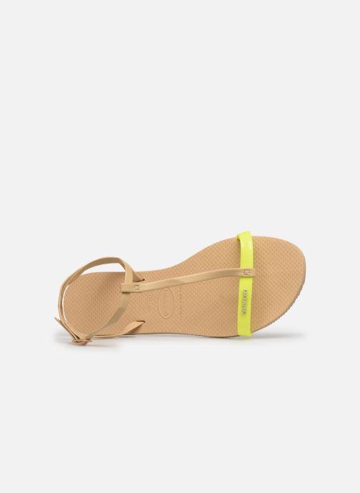 Sandalen Havaianas You Belize gelb ansicht von links