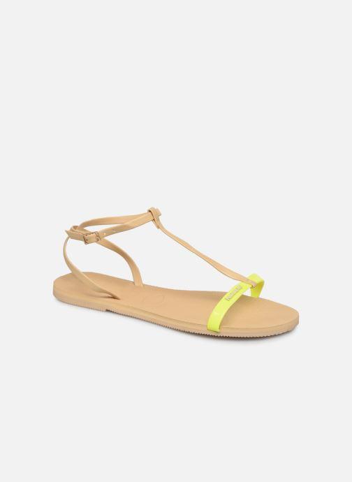 Sandales et nu-pieds Havaianas You Belize Jaune vue détail/paire
