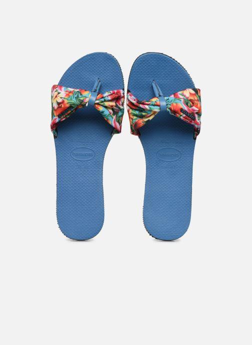 Infradito Havaianas You Saint Tropez Azzurro modello indossato