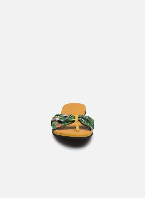 Tongs Havaianas You Saint Tropez Jaune vue portées chaussures