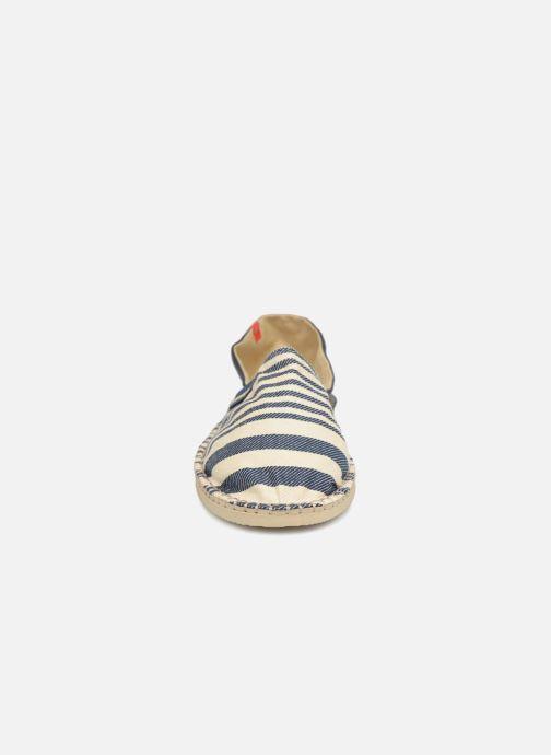 Espadrilles Havaianas Origine Print Classic II Bleu vue portées chaussures