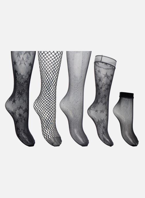 Sokken en panty's Dim Box Résille 3 Collants - 1 Mi-bas - 1 Socquettes Zwart detail