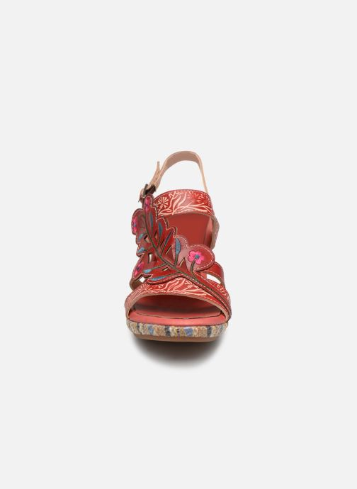 Sandales et nu-pieds Laura Vita Belfort87 Rouge vue portées chaussures