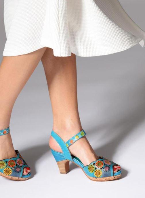 Sandales et nu-pieds Laura Vita Danielle03 Bleu vue bas / vue portée sac