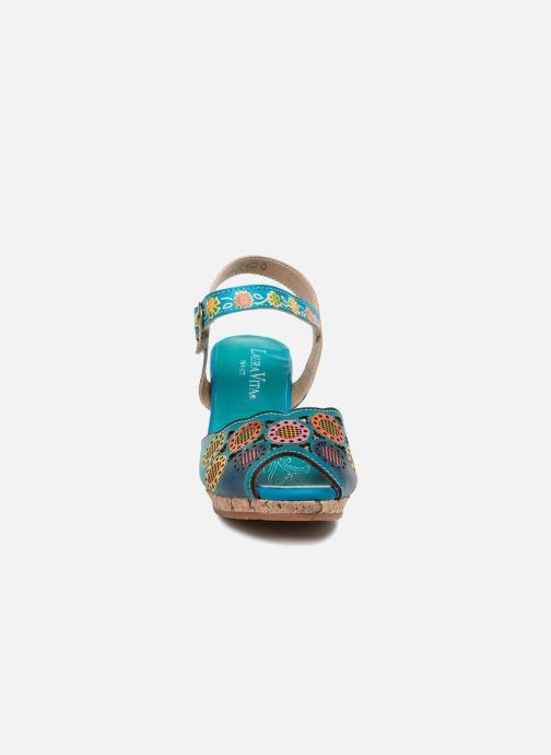 Sandales et nu-pieds Laura Vita Danielle03 Bleu vue portées chaussures