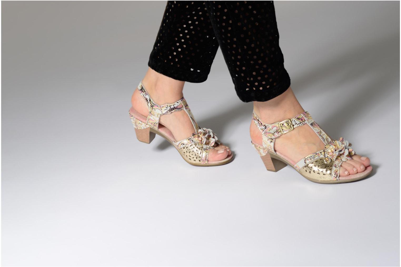 Sandales et nu-pieds Laura Vita Bettino058 Or et bronze vue bas / vue portée sac
