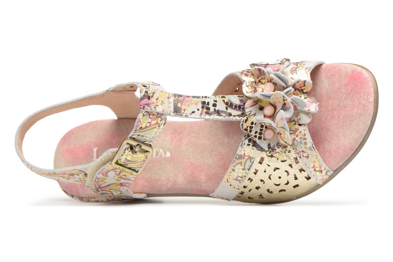 Sandales et nu-pieds Laura Vita Bettino058 Or et bronze vue gauche