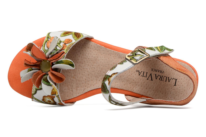 Sandales et nu-pieds Laura Vita Dune04 Orange vue gauche