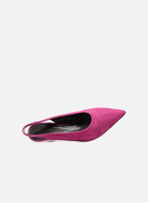 Zapatos de tacón Rebecca Minkoff Simona Rosa vista lateral izquierda