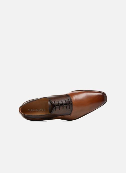 Zapatos con cordones Marvin&Co Luxe Westminster - Cousu Goodyear Marrón vista lateral izquierda