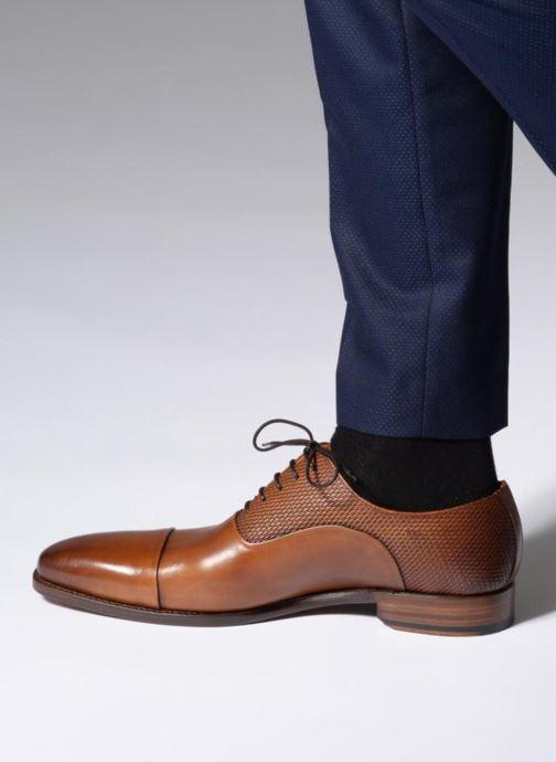 Schnürschuhe Marvin&Co Luxe Warwick - Cousu Goodyear braun ansicht von unten / tasche getragen