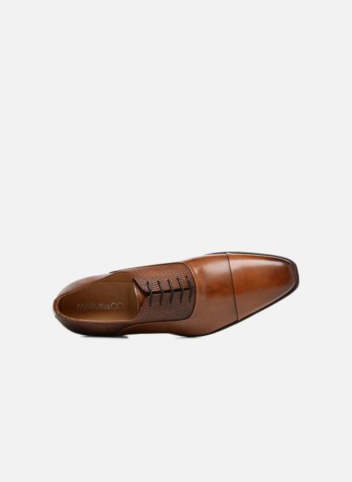 Chaussures à lacets Marvin&Co Luxe Warwick - Cousu Goodyear Marron vue gauche
