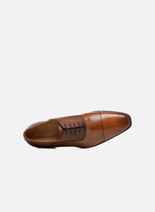 Zapatos con cordones Marvin&Co Luxe Warwick - Cousu Goodyear Marrón vista lateral izquierda