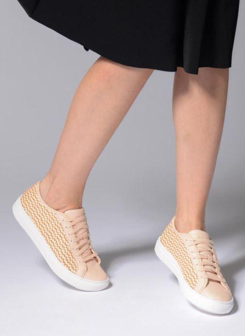 Sneakers Le Coq Sportif Jane Woven Rosa immagine dal basso