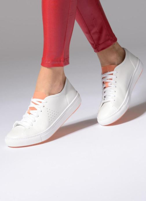 5513efcaa963 Trainers Le Coq Sportif Jane Leather White view from underneath   model view