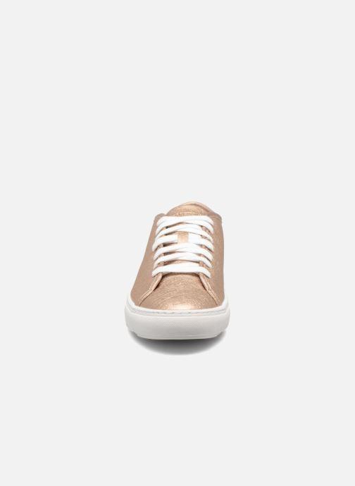Baskets Le Coq Sportif Jane Metallic Or et bronze vue portées chaussures